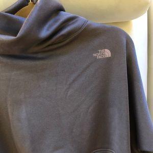 NWT The North Face Poncho sweatshirt mock turtle